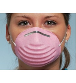 FACE MASK PREMIUM MOLDED MASK PINK- BOX/50 PICS