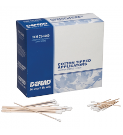Cotton 6 Tipped Applicators. 1000/box
