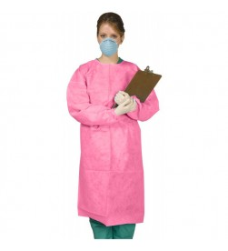 DISPOSABLE GOWNS TIE-BACK MEDIUM 10/BAG PINK