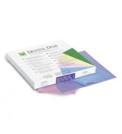 FIESTA® DENTAL DAM (LATEX)  FOR ADULTS (6X6) 36 SHEETS MEDIU