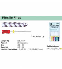 FLEXILE FILE 25MM pk/6