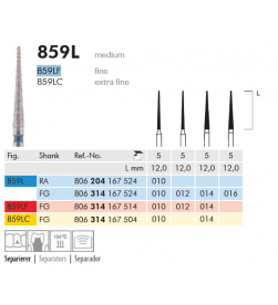 Long Tapered Point Needle Diamond Bur