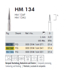 CARBIDE FINESHING BUR HM-134